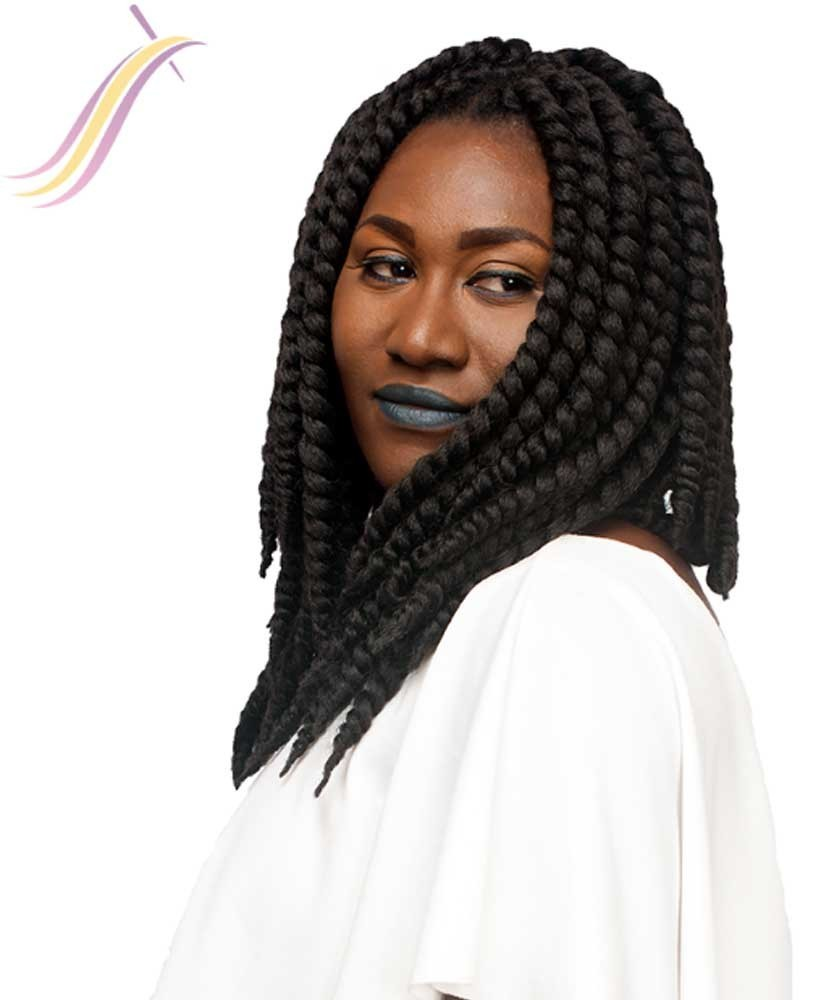 Crochet braids Himba Twist 12 1B#