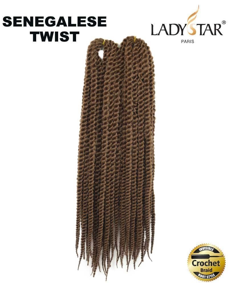 Meche pour crochet braids Senegalese Twist 18 30#