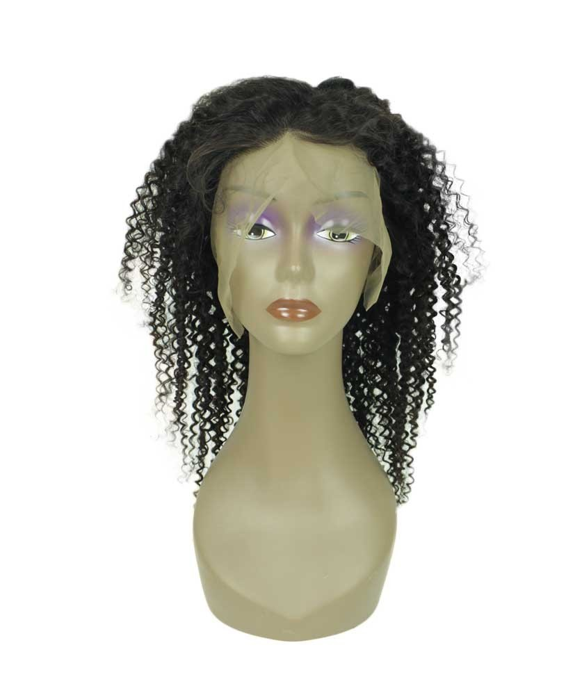 Full lace wig kinky curly 18 - Face