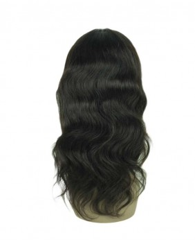 360 lace wig body wave - dos
