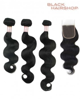lot tissage bresilien body wave + Closure