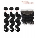 lot tissage bresilien body wave + Lace frontal